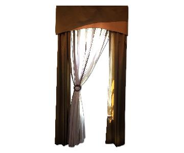 Customade Window Treatments with Rods and Hooks