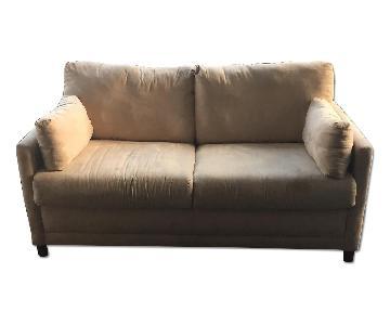 Raymour & Flanigan Beige Sleeper Sofa