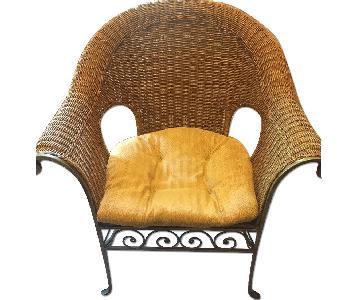 Pier 1 Wicker & Iron Arm Chair