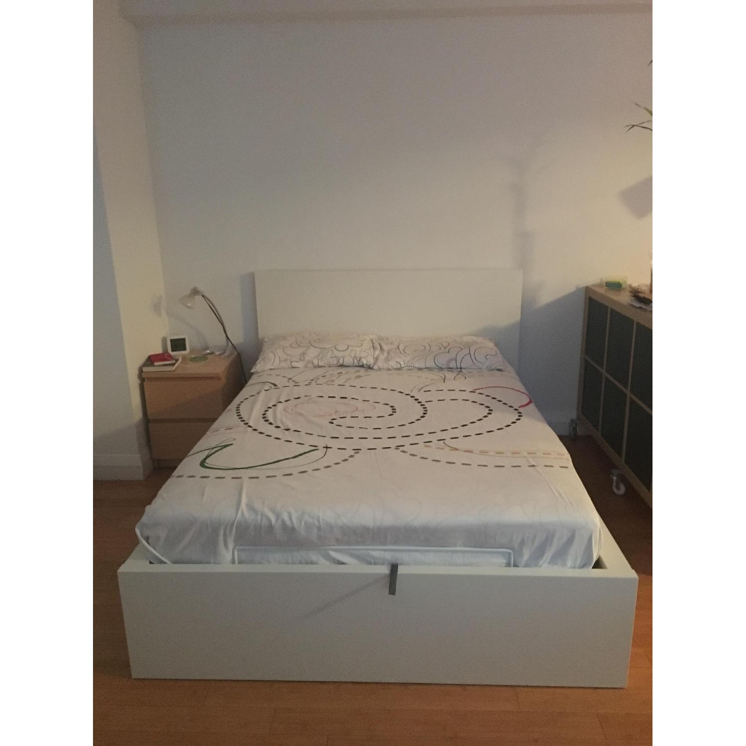 ikea malm fulldouble storage bed - Storage Beds Full