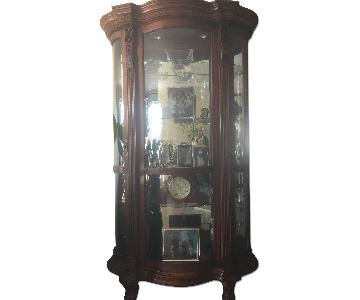 Bloomingdale's Glass & Wood Curio Cabinet