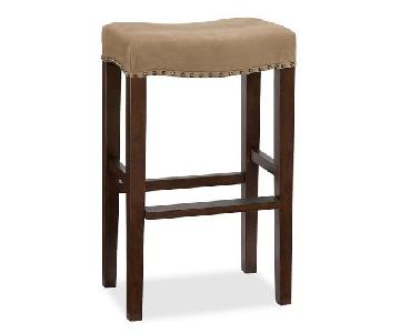 Pottery Barn Suede Barstool