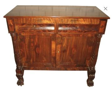 American Empire Mahogany Wood Cabinet