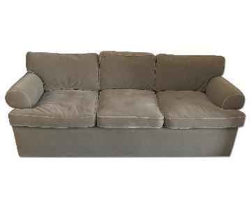 Custom Olive Mohair Couch