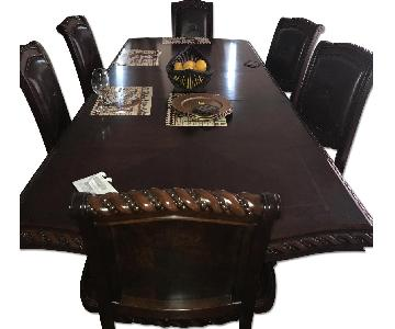 Ashley's Leather 7 Piece Dining Set