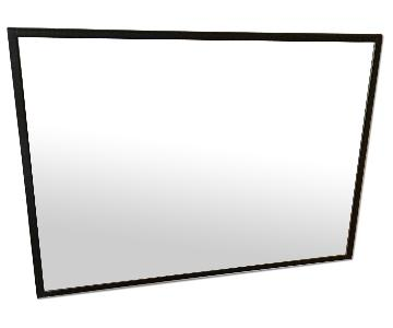 Crate & Barrel Modern Black Frame Mirror