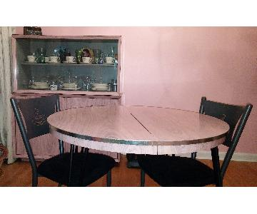 1950's Retro Dining Table + China Cabinet