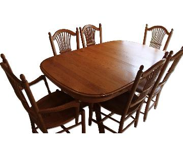 Edrich Mills Wood Shop Dining Table w/ 6 Chairs