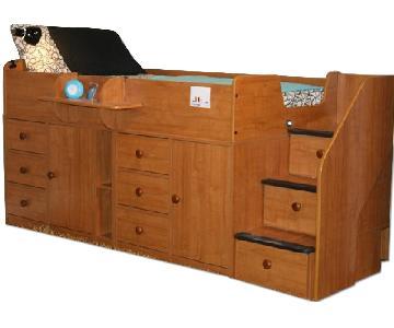 Berg Furniture Kids Captain Bed w/ Custom Knobs