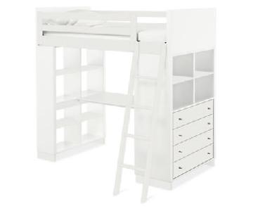 Room & Board Moda Loft Bed w/ Desk & Dresser