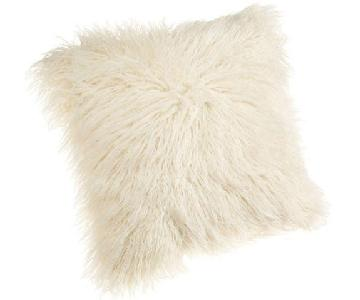 Cynthia Rowley White Shag Pillow