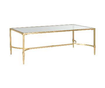 Safavieh Gold & Glass Coffee Table