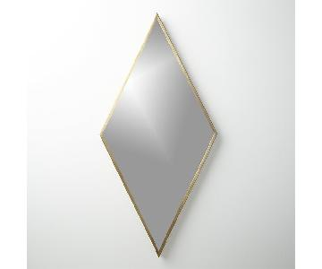 CB2 Diamond Brass Wall Mirror