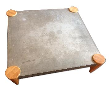 The Conran Shop Square Zinc Top Coffee Table