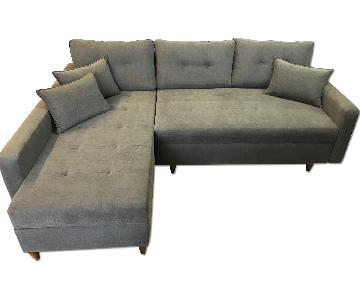 L-Shape Sleeper Sectional w/ Storage