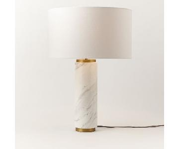 West Elm Pillar Table Lamp w/ Marble Base