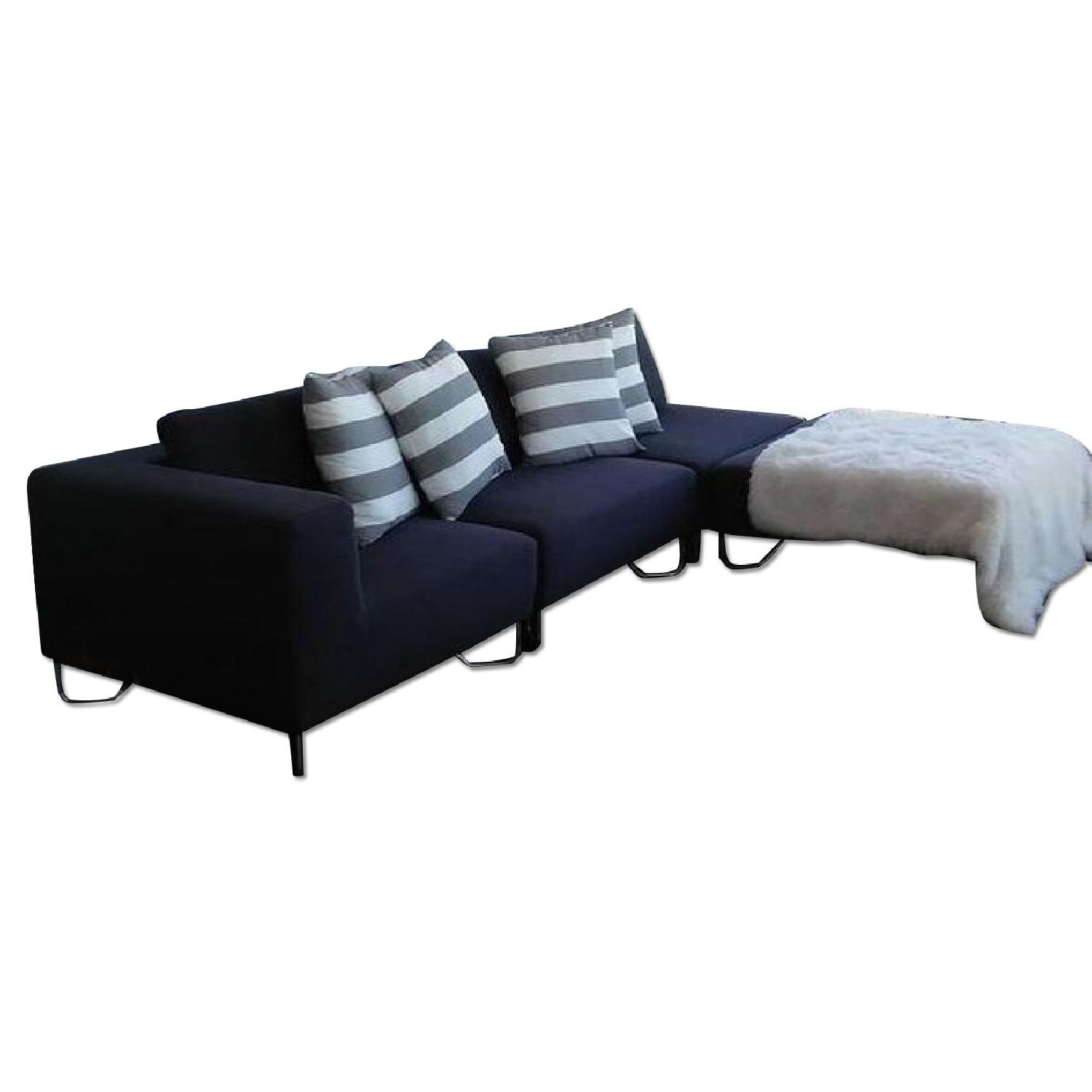 Cb2 district sectional sofa w left arm chaise aptdeco for 2 arm chaise lounge