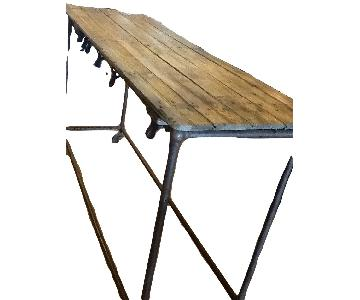 Antique Kitchen Island Industrial Loft Rustic Table