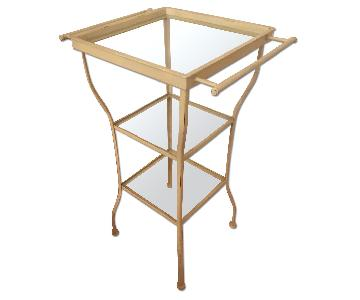 Pottery Barn Painted Metal Side Table