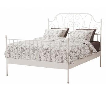 Ikea Leirvik Full Bed Frame in White