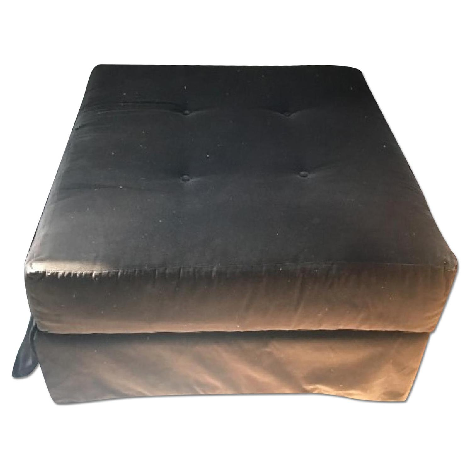 Microsuede Tufted Square Ottoman