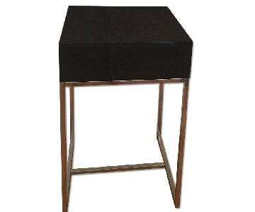 West Elm End Table w/ Small Drawer