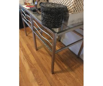 Glass-Top End Tables/Night Stands