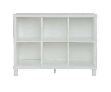 The Land of Nod 6-Cubic Wide Bookcase