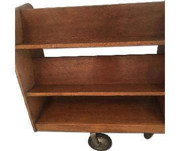 Vintage Bookcase w/ Casters