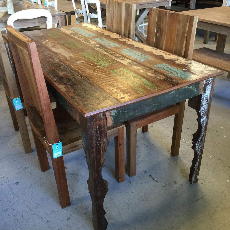 ... Nadeau Furniture Rustic 5 Piece Dining Set 4