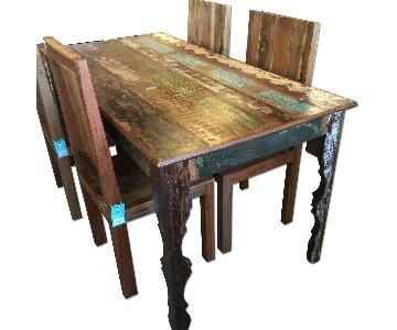 Nadeau Furniture Rustic 5 Piece Dining Set