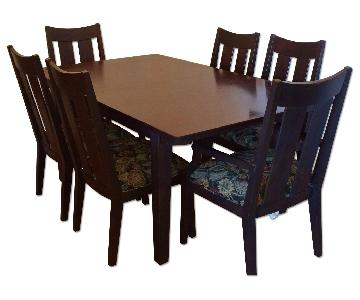 Ethan Allen Expandable Dining Table w/ 6 Chairs