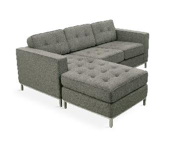 Gus Modern Jane Bi-Sectional Sofa w/ Stainless Steel Base