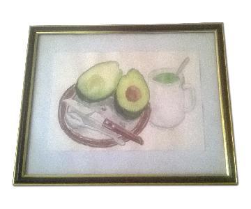 Framed Painting - Avocado and Tea