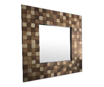 Pottery Barn Modern Checkered Square Mirror