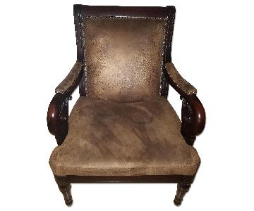 Raymour & Flanigan Wood Frame Arm Chair