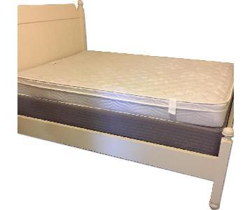 Pottery Barn Teen White Full Bed Frame