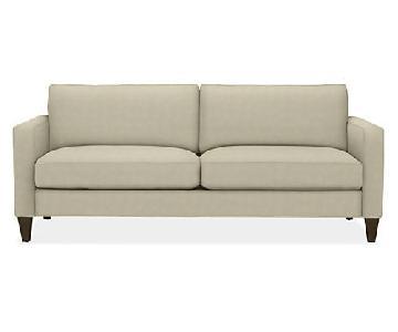 Room & Board Cream Color Apartment-Size Sofa
