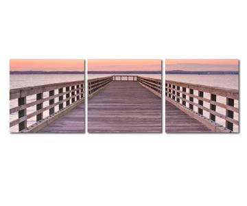 Vinyl-Mounted Triptych Print: Dock View