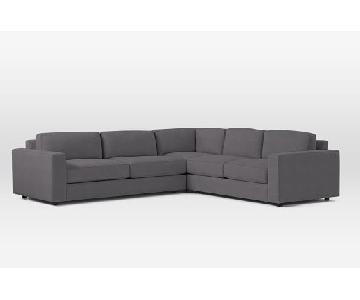 West Elm Urban 3 Piece Sectional Sofa