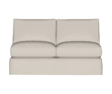 Crate & Barrel Axis Slipcovered Loveseat