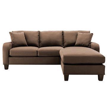 Raymour & Flanigan 2-Piece Microfiber Sectional Sofa