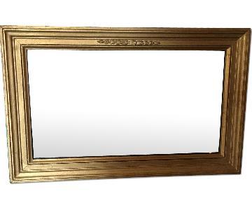 Antique Gold Gilt Wood Mirror