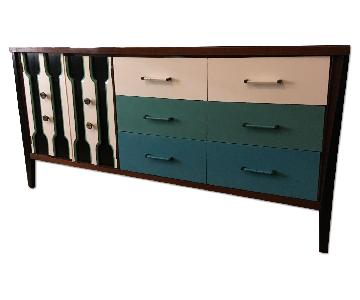 Vintage Hand-Painted Mid-Century Modern Dresser
