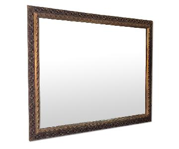 Vintage Gold Frame Rectangular Wall Mirror