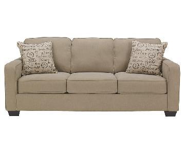Ashley's Alenya Tan/Neutral 3-Seater Sofa