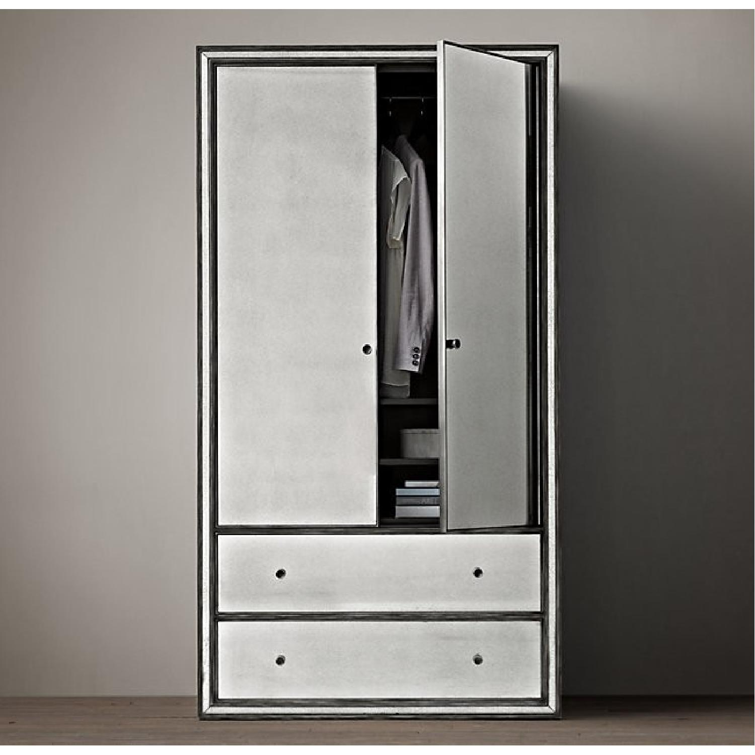 Charmant Restoration Hardware Strand Mirrored Armoire ...