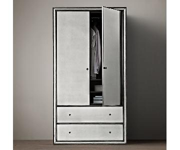 Restoration Hardware Strand Mirrored Armoire