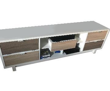 Media Console w/ Storage Drawers