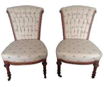 Vintage 19th Century English Slipper Chairs